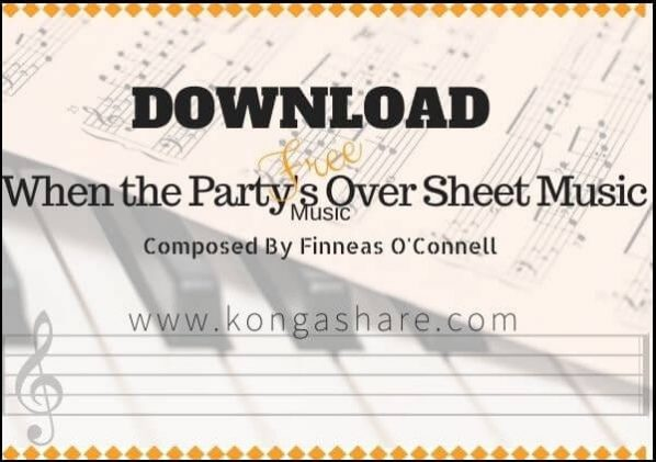 when the party's over piano sheet music pdf midi mp3