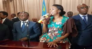 "Jeanine Mabunda, presidente de l'Assemblee nationale de la RDC et membre du FCC de ""Joseph KABILA""."