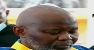 Tête baissée, signe d'humiliation, Vital KAMERHE LWA KANYIGINYI NKINGI, Dir-Cab du President de la RDC, condamné a 20 ans de prison ferme pour l'infraction de détournement des deniers publics.