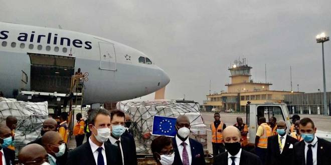 Covid-19, une delegation de l'Union européenne en RDC.