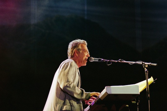 Ray Manzarek, performing in 2002. Manzarek had reunited with The Doors' guitarist Robby Krieger more than 30 years after the band's lead singer, Jim Morrison, died.