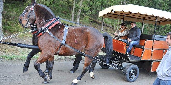 Testy wozu z elektrycznym wspomaganiem pracy koni