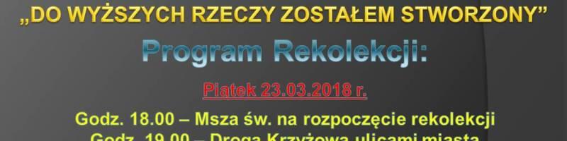 Rekolekcje Parafialne.
