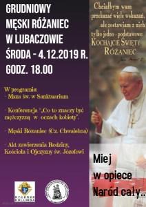 Grudniowy Męski Różaniec – 4.12.2019 r. godz. 18.00.