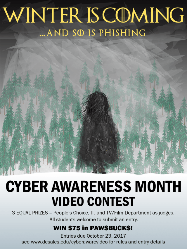 Cyber Awareness Month Poster