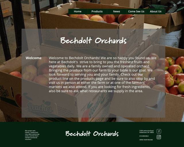 Bechdolt Orchards Web Concept