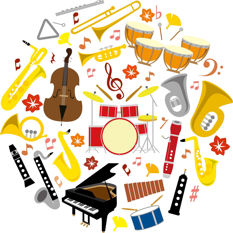 音楽シルエットセット