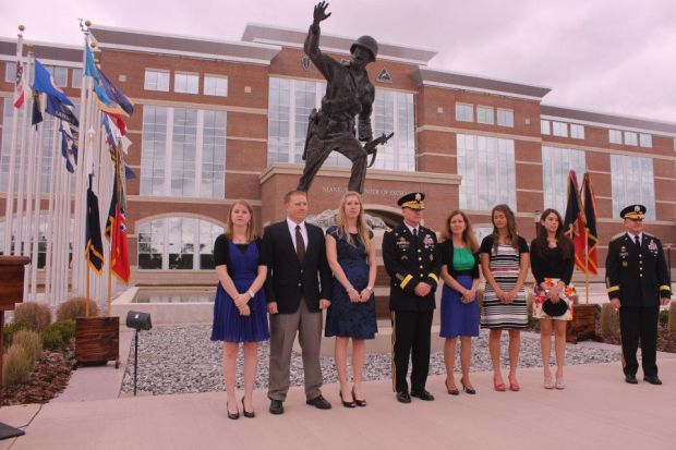 Brigadier General David B. Haight (center) with his family , promotion ceremony at Ft. Benning on April 5, 2013.jpg