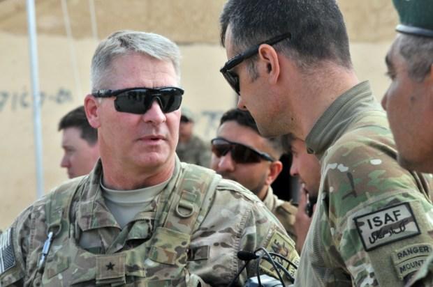 Major General David B. Haight (left) in Lugar Province Afghanistan, 2014.jpg