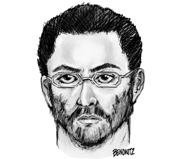 NYPD sketch of the suspect wanted in the killings of Imam Maulama Akonjee and Thara Uddin.
