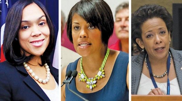 State Attorney Marilyn Mosby, Mayor Stephanie Rawlings Blake, US Attorney General Loretta Lynch