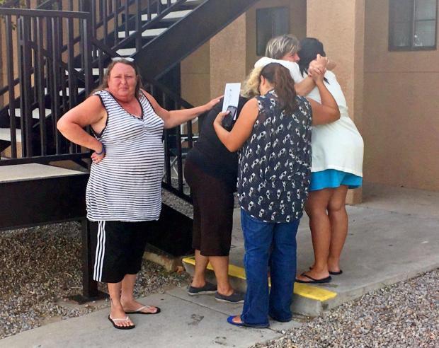 Women mourn Victoria Martens in Albuquerque, N.M1.
