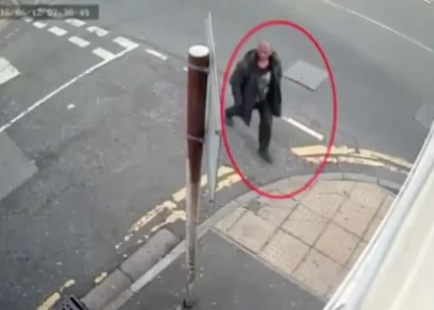 CCTV footage shows him on his way to victims' home - and then walking away with a bag containing the bloodied hammer.jpg