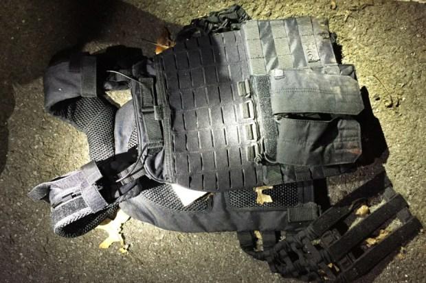 Heavy ballistic jacket worn by Patrick Allen.jpg