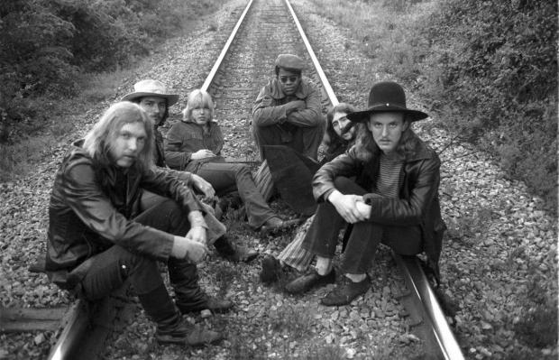 The Allman Brothers Band,  [L-R] Duane Allman, Dickey Betts, Gregg Allman, Jai Johanny Johanson, Berry Oakley and Butch Trucks - May 5, 1969.jpg