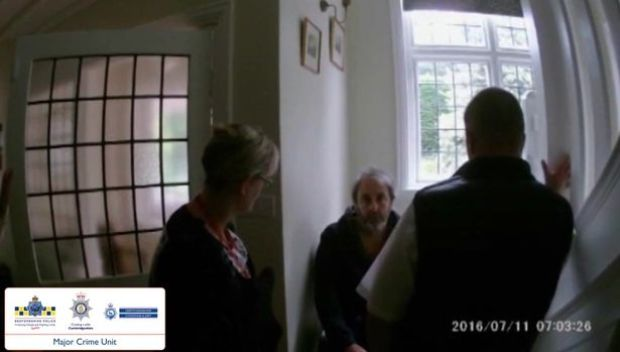 Ian Stewart feigned a stunned reaction when told he was a murder suspect.jpg