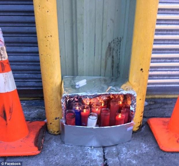 Memorial set up for fallen EMT, Yadira  Arroyo after her death Thursday night.jpg
