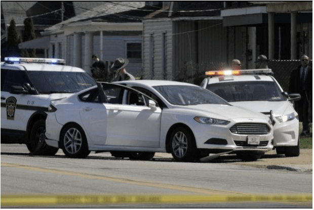 Murder suspect allegedly shot himself in the white Ford Fusion2.png