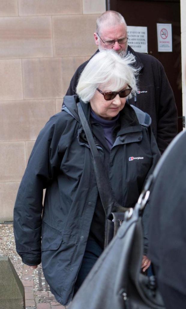 Victim Dr Rosemary Platt leaves court.jpg