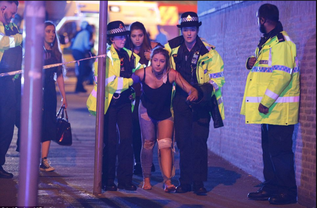Bloodied concertgoers at Ariana Grande Manchester concert1 05-22-17