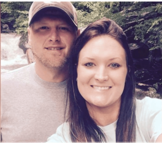 Heath Baker and his wife