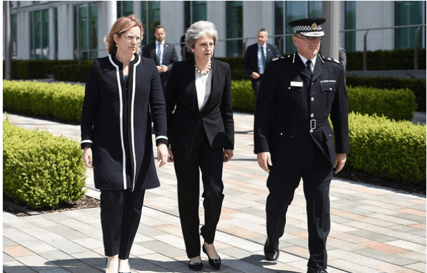 Pm Theresa May and Home Secretary Amber Rudd met Manchester Chief Constable Ian Hopkins .png