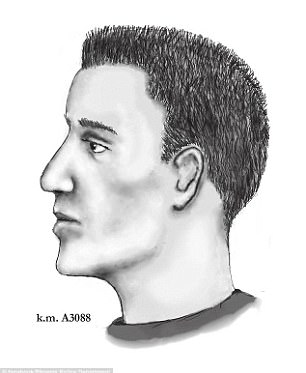 Police composite sketch of suspect based on witness statements
