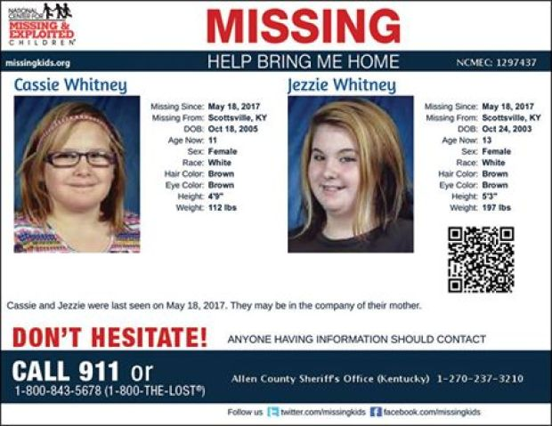 Police flyer for Cassie Whitney and Jezzie Whitney.jpg