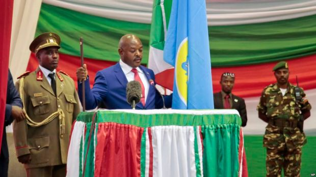 President Pierre Nkurunziza sworn in for his third term.jpg