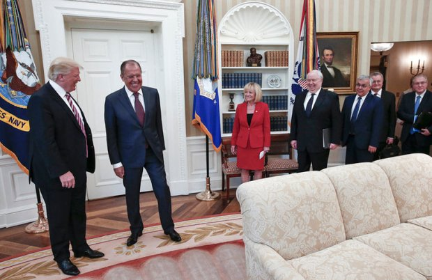 President Trump met with Russian officials in an event American journalists were barred1. Photo Courtesy of Russian press