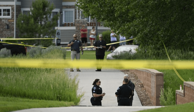 Police at the scene where 10-year-old Kiaya Campbell was found, about a mile from her home in Thornton, Colorado, on Thursday night just hours after she went missing2