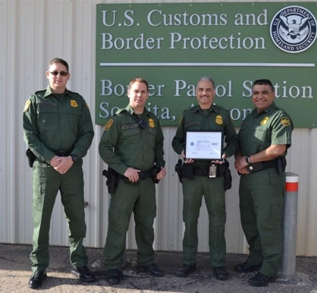 Border agent found the illegal stowaways were found at the Sonoita Station in Tuscon, Arizona .jpg