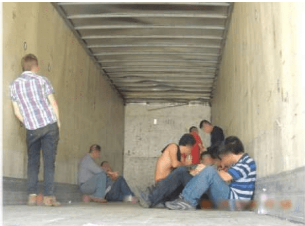 Illegal immigrants in trailer in Texas.png