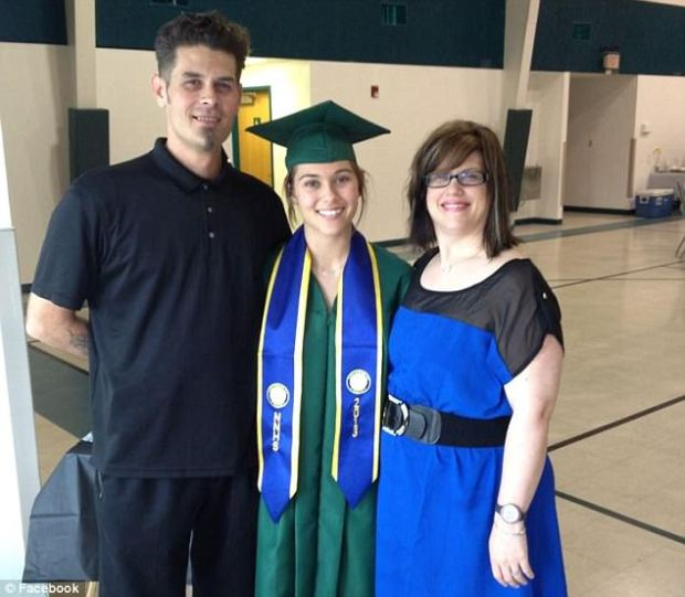 Kailee, pictured at her high school graduation in 2013,with her parents Ronnie and Karen McMullen1.jpg