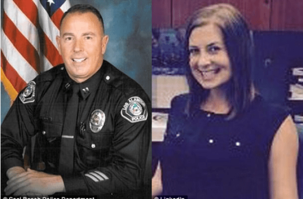 Los Alamitos police captain Rick Moore [left] and Amanda Jensen 1.png