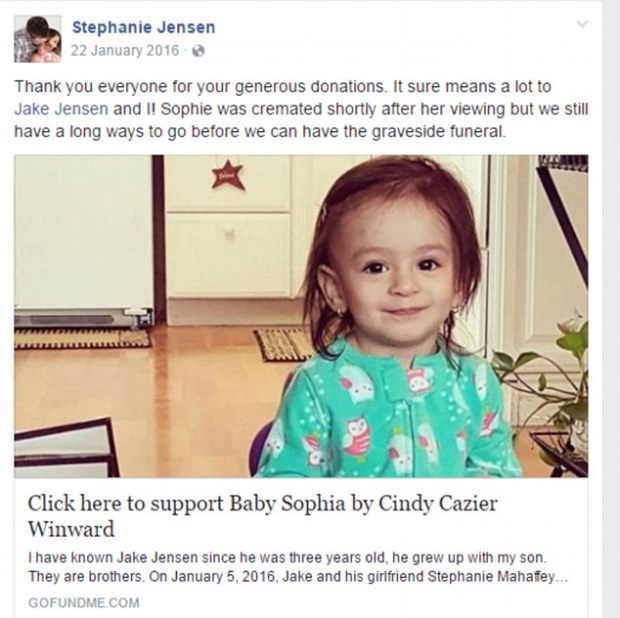 GoFundMe campaigns to pay for Sophia's funeral costs and medical bills1.jpg