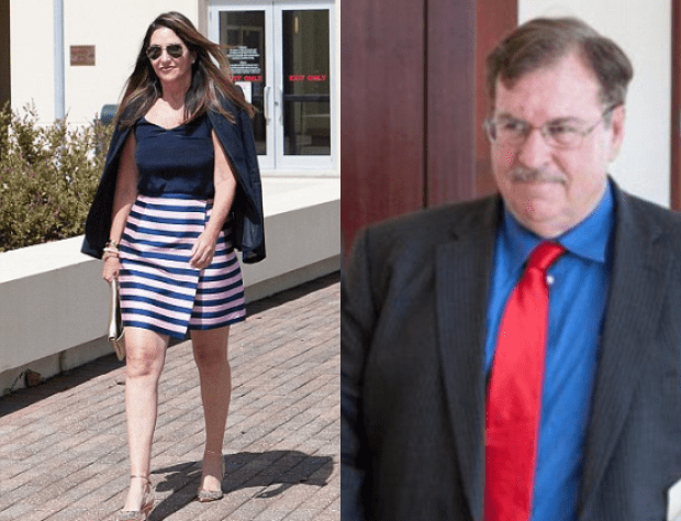 Melissa Holland and Tom O'Brien in court Monday