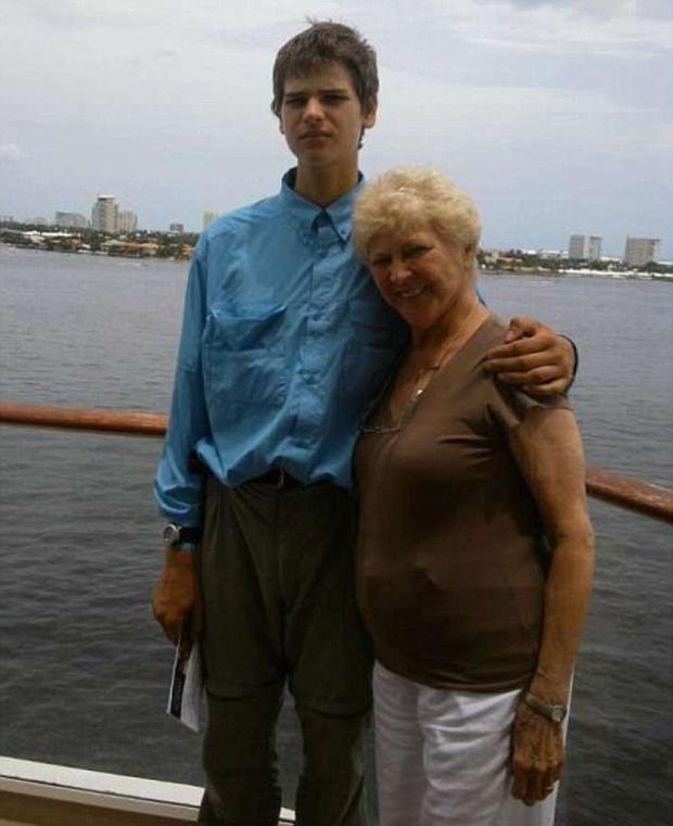 Nathan Chakalos seen with his grandmother in 2013