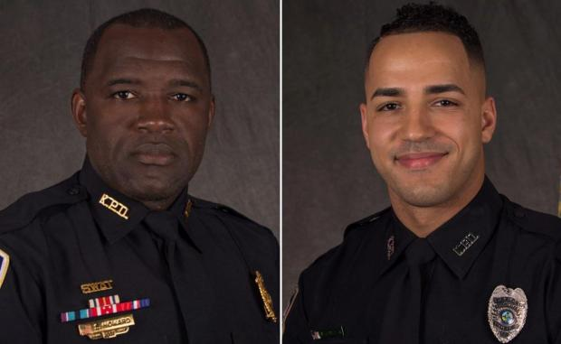 Officers Richard Howard, left, and Mathew Baxter 1