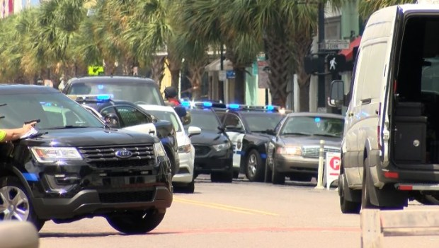 Police activity at the scene of a reported shooting in Charleston, South Carolina Thursday 4.jpg