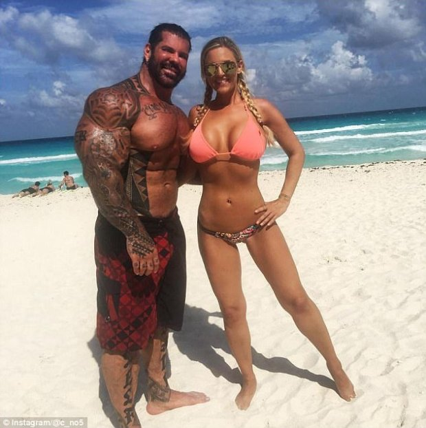 Rich Piana's and girlfriend, Chanel Jansen, [right],.jpg