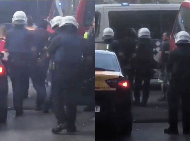 Stills from a video showing Driss Oukabir being arrested by Spanish police in Barcelona after the suspected terror attack in the heart of the city.png