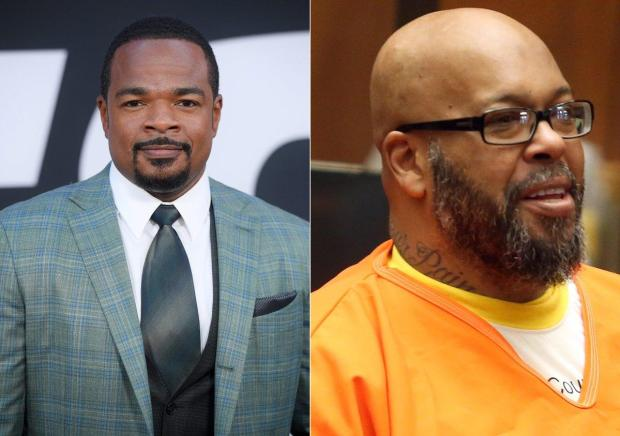 """Suge Knight [r], allegedly made death threats against """"Straight Outta Compton"""" director F. Gary Gray in Aug 2014..jpg"""