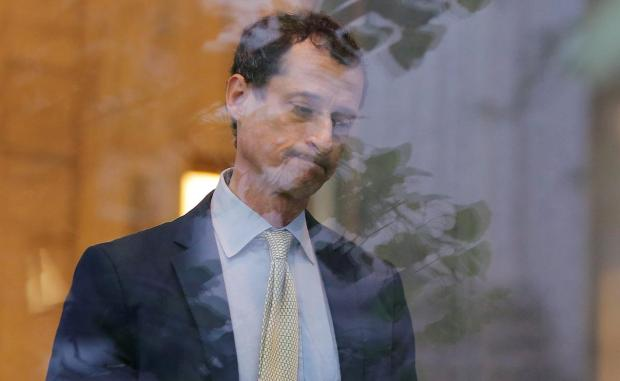 Anthony Weiner is seen after he was sentenced to 21 months in prison 3