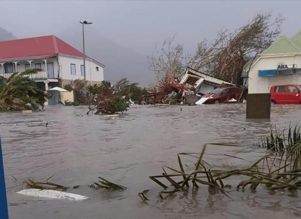 Fooded street after Hurricane Irma made landfall on Sint Maarten Dutch, a part of Saint Martin island 2.png