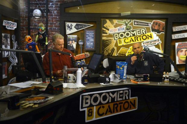 WFAN Host Boomer Esiason and his longtime co-host Craig Carton