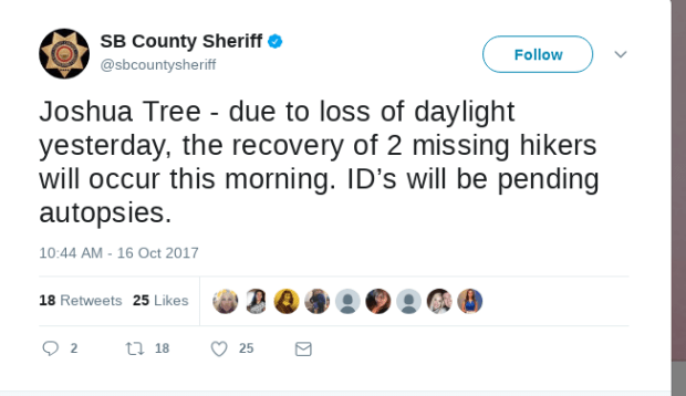 Police tweet on finding the remains of Rachel Nguyen and Joseph Orbes .png