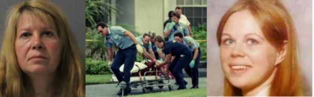 Sheila Keen Warren [left], disguised as a clown shot Marlene Wareren in Palm Florida, in 1990 2.png