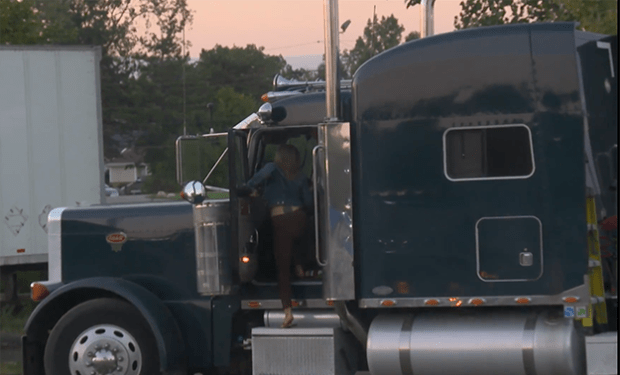 The FBI catches a human trafficker as she is trying to escape in her tractor trailer