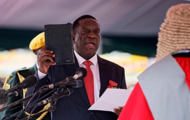 EmmersonMnangagwa took the oath of offic